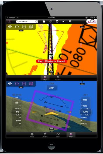 FlyQ EFB in an iPad mini